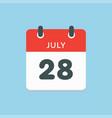 icon calendar day 28 july summer days year