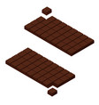 isometric chocolate bars vector image vector image