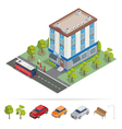 isometric hotel hotel building travel industry vector image vector image
