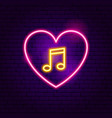 love music neon sign vector image vector image