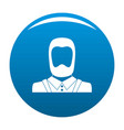 man avatar icon blue vector image vector image