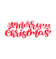 merry christmas red text calligraphic vector image vector image