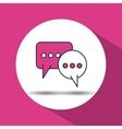 message in speech bubble design vector image
