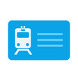 metro ticket flat isolated on white vector image vector image