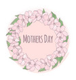 mother day floral background frame vector image vector image