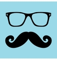 Mustache and Glasses vector image