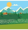 Nature landscape cartoon colorful vector image