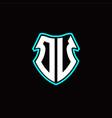 o u initial logo design with a shield shape vector image vector image