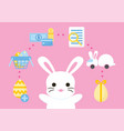 online shopping purchase process easter concept vector image