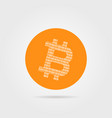 orange bitcoin logo with shadow vector image