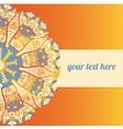 ornate frame with sample text Orange vector image
