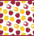 red and yellow paprika seamless pattern vector image vector image