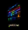 retro neon glowing colorful laser beams vector image