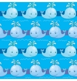 Seamless pattern with whale vector image