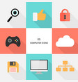 set 05 - flat design computer icons vector image vector image