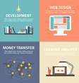 Set of flat design banners Development web design vector image