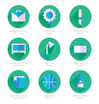 Set of flat school and education icons set 2 color vector image vector image