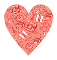 Sewing heart vector image vector image