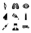 skeleton icons set simple style vector image vector image
