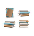 stack beige and blue pastel books books vector image vector image