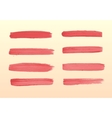 The set of strokes of red gouache vector image vector image