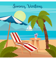 Tropical Paradise Exotic Island with Palm Trees vector image vector image