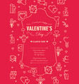 valentines day design postcard vector image