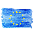 watercolor flag of European Union vector image