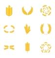 Wheat rye or barley icons set cartoon style vector image vector image