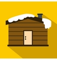Winter house icon flat style vector image vector image
