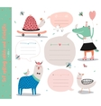 Set of birthday cards gift tags labels vector image