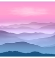 Background with mountains in the fog vector image