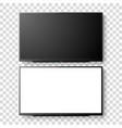 3d realistic white blank tv screen set vector image vector image