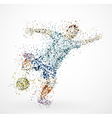 Abstract football player vector