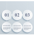 abstract numeric circles infographic hanging vector image vector image