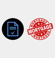 agreement page icon and distress mortgage vector image vector image