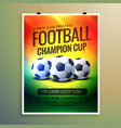 amazing football background for event flyer and vector image vector image