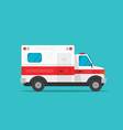 ambulance emergency automobile car vector image vector image