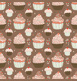 baked cupcakes food pattern vector image