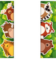 banner template with cute animals vector image vector image