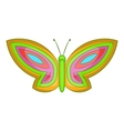 Beautiful butterfly icon cartoon style vector image