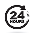 black 24 hours vector image vector image