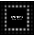 Black Abstract Halftone Square Frame Background vector image