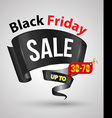 Black friday sale banner ribbon style vector image vector image