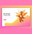 brazil carnival dancer woman character web page vector image vector image