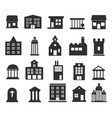 buildings icons set on white background vector image vector image