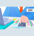 business concept man at work vector image