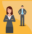 business man and woman team work people business vector image vector image
