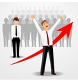 business man raising his hands up vector image vector image