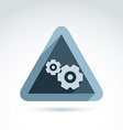 Business theme icon with gears cogs conceptual vector image vector image